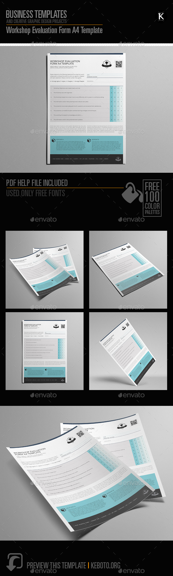GraphicRiver Workshop Evaluation Form A4 Template 20655013