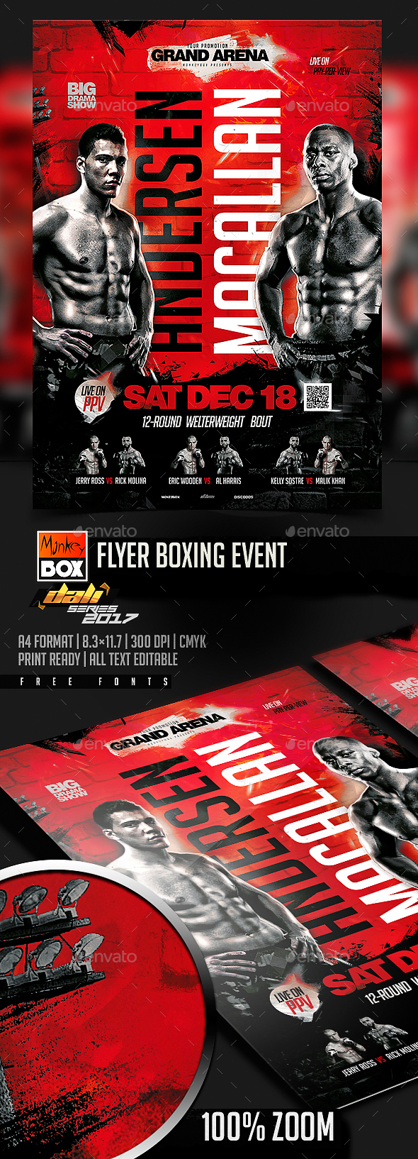 Flyer Boxing Event - Flyers Print Templates