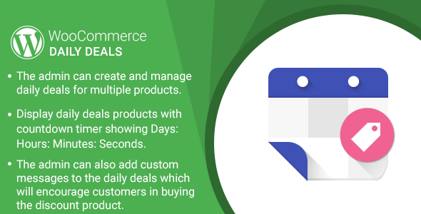 WordPress WooCommerce Daily Deals Plugin - CodeCanyon Item for Sale