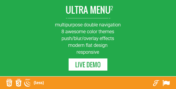 Mobile First Double Responsive Navigation Menu - CodeCanyon Item for Sale