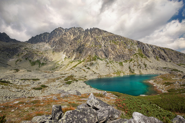 View on highest peak of Tatra Mountains - Gerlachovsky stit, Slovakia, Europe - Stock Photo - Images
