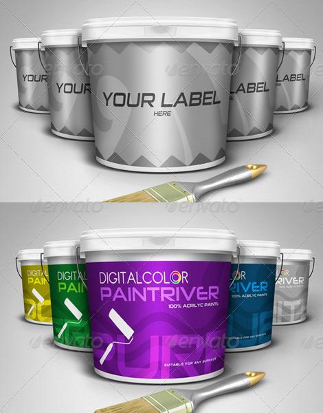 Paint Bucket Mockup Premium Kit By Gunzkingzart