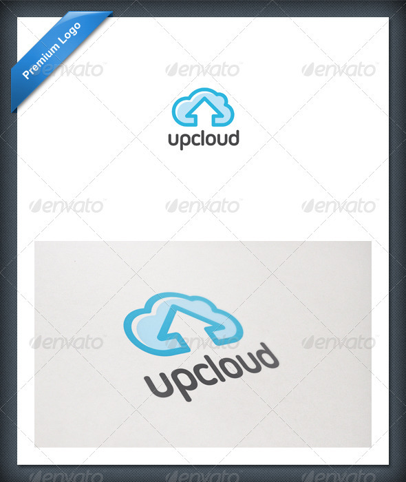 Up Cloud Logo Template - Nature Logo Templates