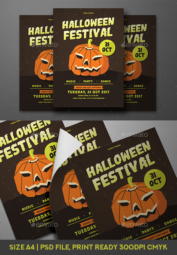 Halloween Festival - Events Flyers