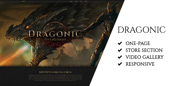 Image of Dragonic: The Ultimate Premium Gaming Landing Page