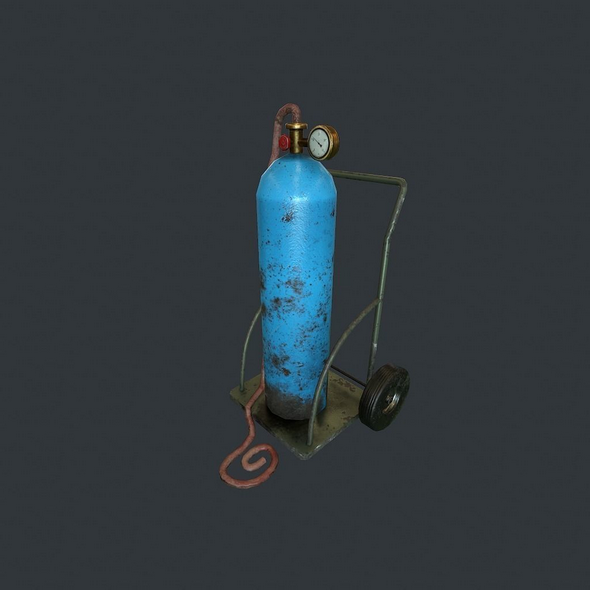 Gas Tank pbr - 3DOcean Item for Sale