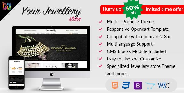 Minimal - Jewelry Responsive OpenCart Theme