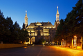 Aachen Town Hall At Night, Germany