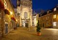 Aachen Domhof At Night, Germany