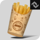 Recycled Paper Fries Cup Mockup