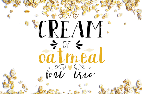 GraphicRiver Cream of oatmeal font trio 20655937