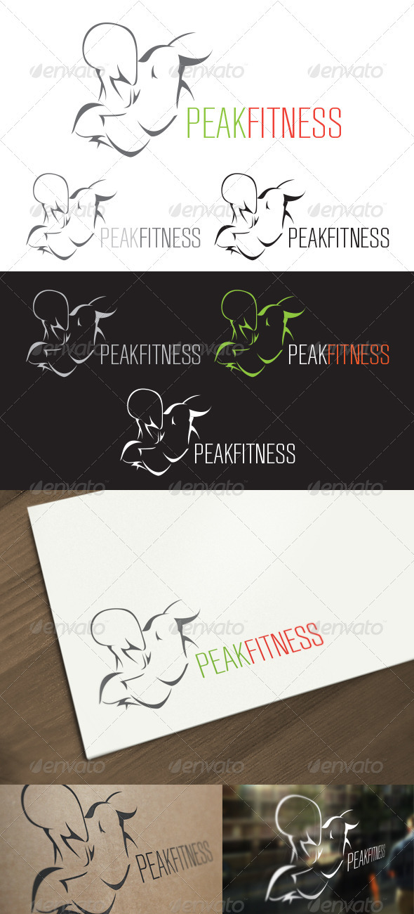 Peak Fitness - Exercise Logo - Humans Logo Templates