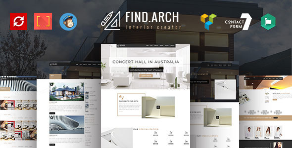 Find ARC - Interior Design, Architecture - WordPress Theme