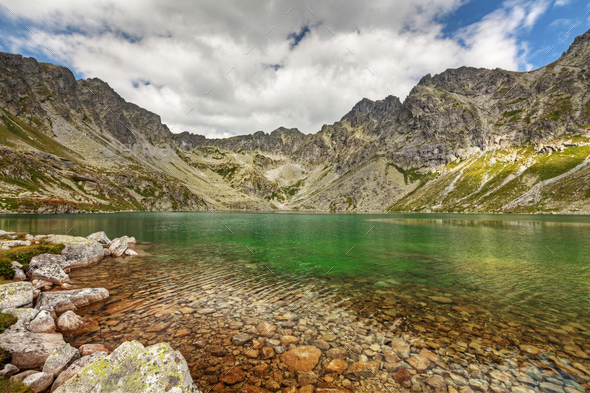 Photo of Velke Hincovo Pleso lake valley in Tatra Mountains, Slovakia, Europe - Stock Photo - Images