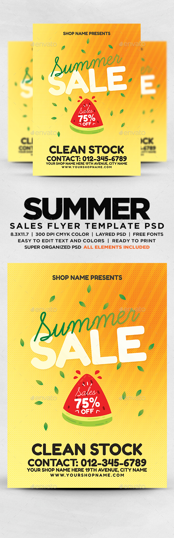 GraphicRiver Summer Sale Flyer 20656232