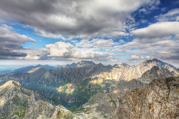 View on high Tatra Mountains, Slovakia, Europe - Stock Photo - Images