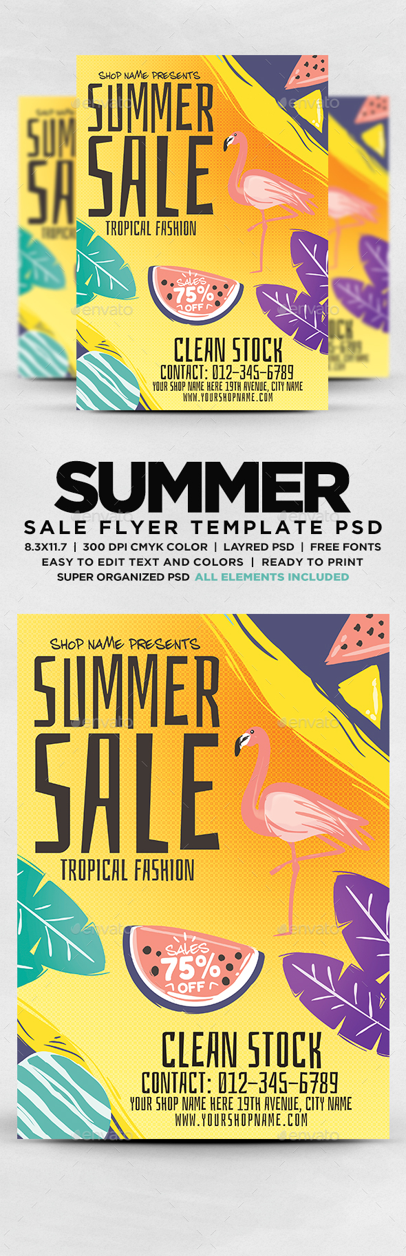 GraphicRiver Summer Sale Flyer PSD 20656559