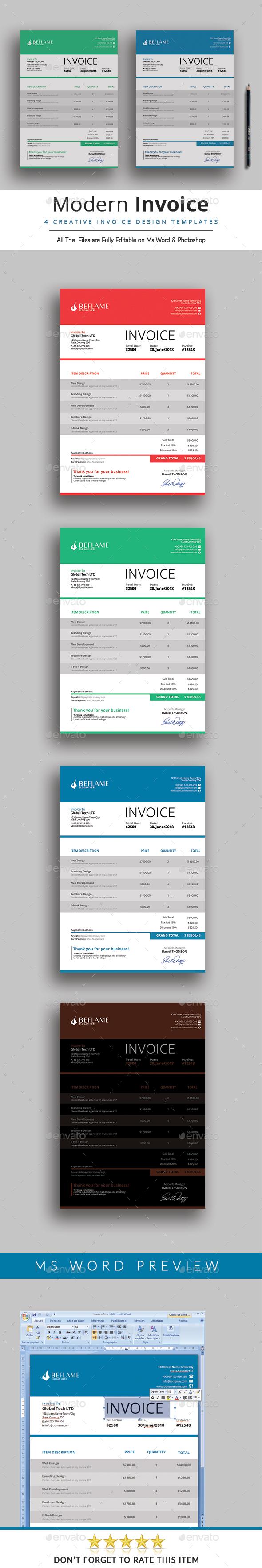 GraphicRiver Invoice 20656629