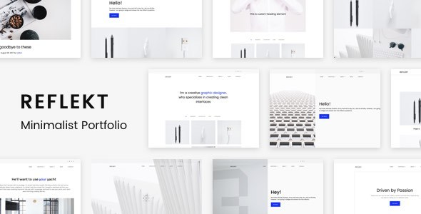 Download Reflekt - Minimalist Portfolio Theme