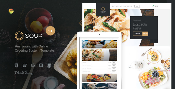 Image of Soup - Restaurant with Online Ordering System Template