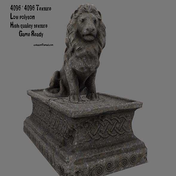 Lion Statue 10 - 3DOcean Item for Sale