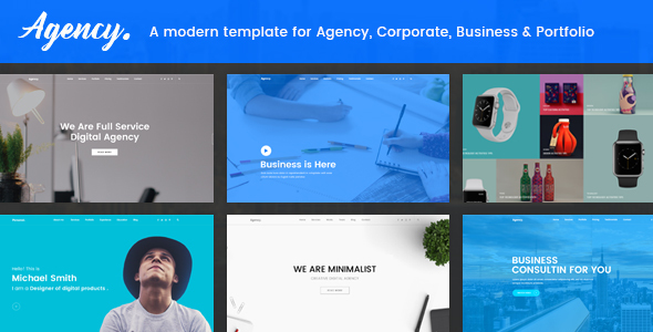 Agency - Creative Agency, Studio, Corporate, Business & Portfolio HTML5 Template