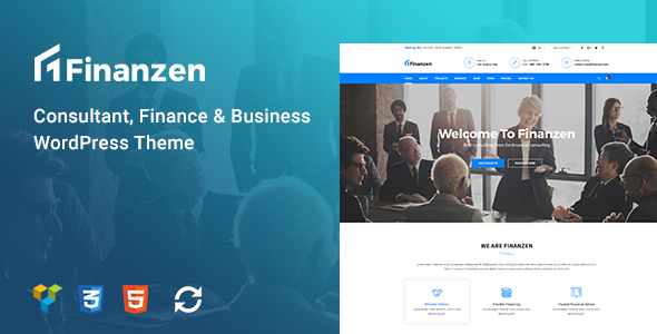 Finanzen - Consultant, Finance & Business WordPress Theme - Business Corporate