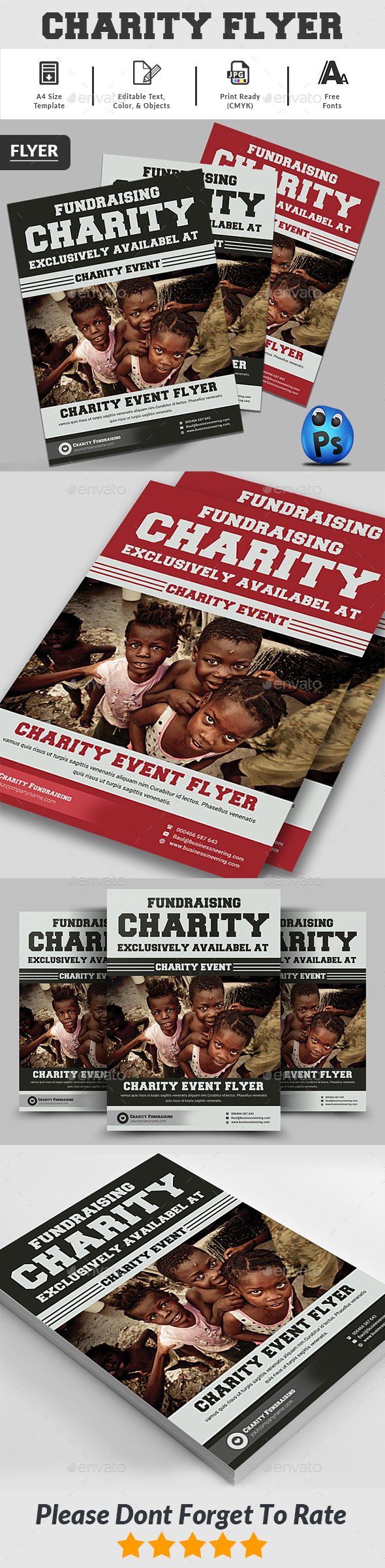 GraphicRiver Charity Fundraisers Flyer 20656935