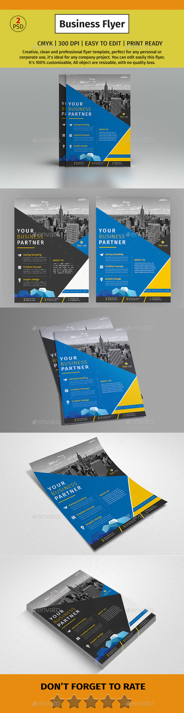 A4 Corporate Business Flyer #166 - Corporate Flyers