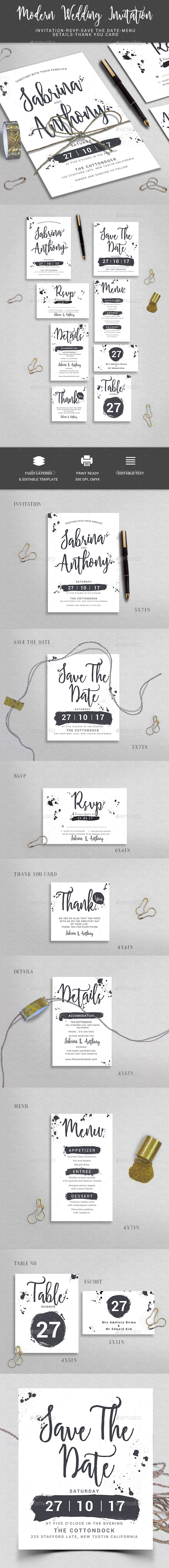 GraphicRiver Wedding Invitation 20656943