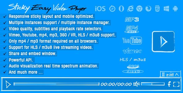 CodeCanyon Sticky Easy Video Player 20656966