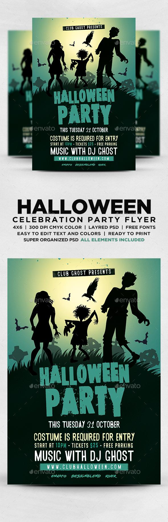 Bloody Halloween Flyer Template Moda Design 4 Studio Online