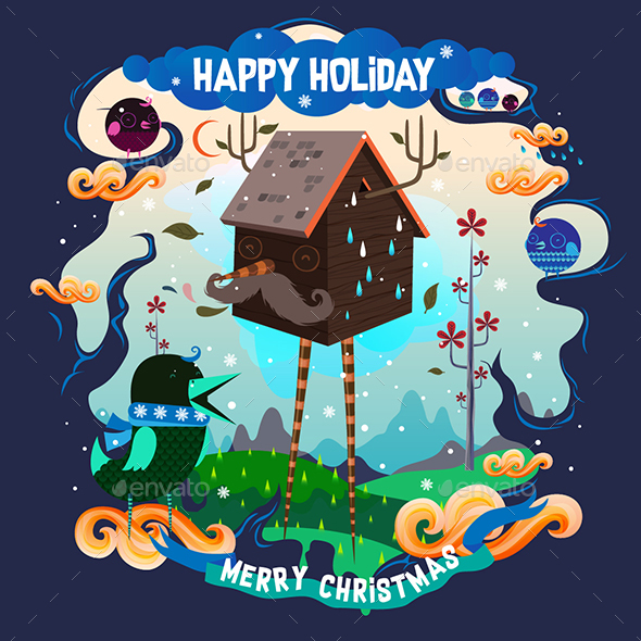 Happy Holiday - Vectors
