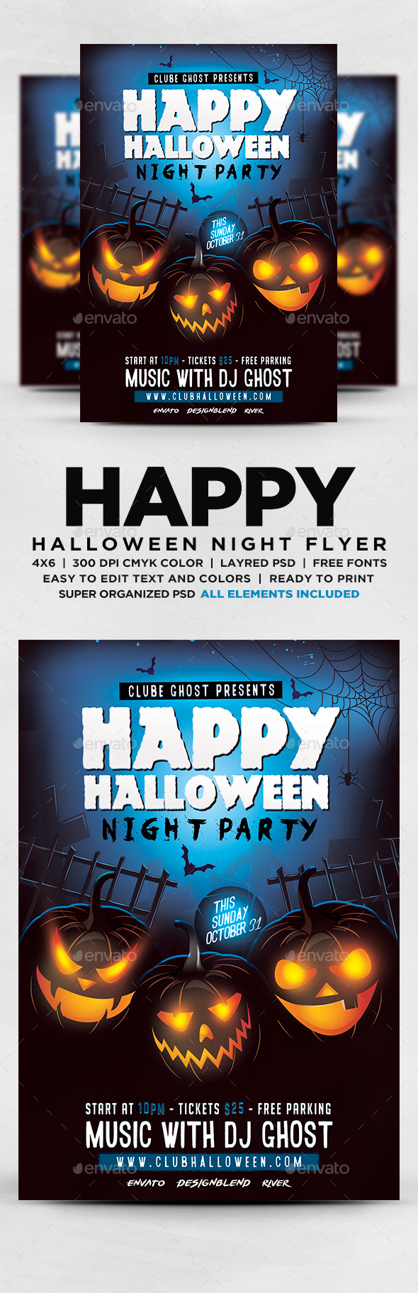 GraphicRiver Halloween Night Party Flyer 20656986