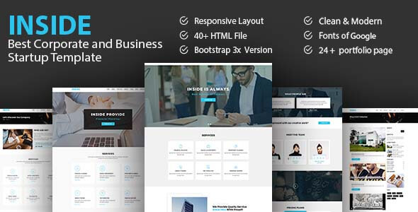 ThemeForest Inside Best Corporate And Business Startup Template 20557632