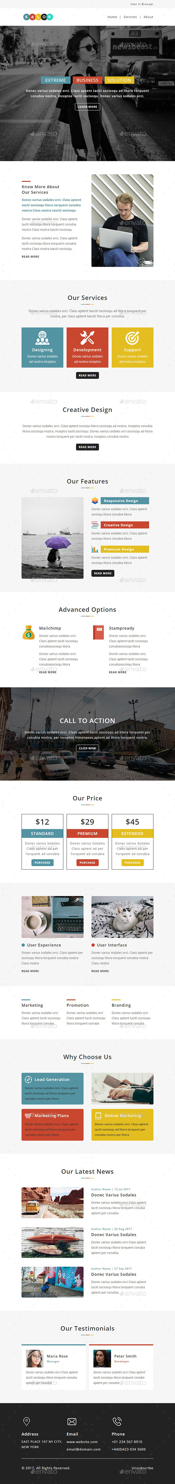 GraphicRiver Kalor E-newsletter PSD Template 20657008