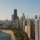 Aerial View of the Chicago, America. Drone Flying Up To the Downtown, Skyscrapers on the Shore of - VideoHive Item for Sale