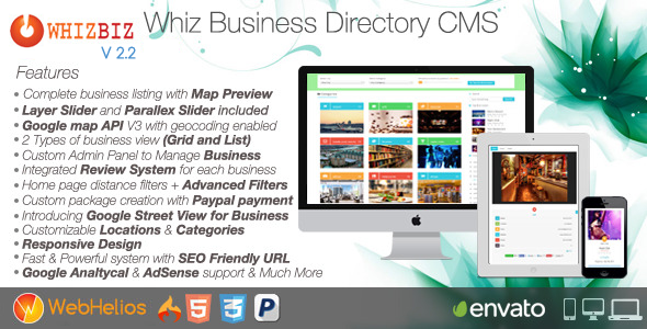 WhizBiz - Business Directory CMS - CodeCanyon Item for Sale