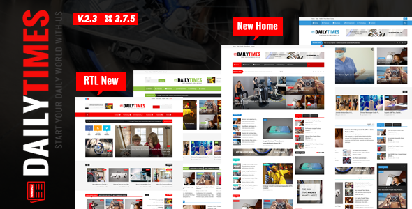 DailyTimes - News and Magazine Joomla Template - Blog / Magazine Joomla