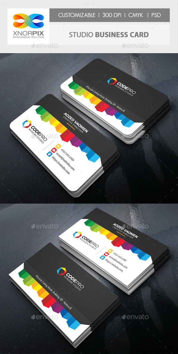 GraphicRiver Studio Business Card 20657297