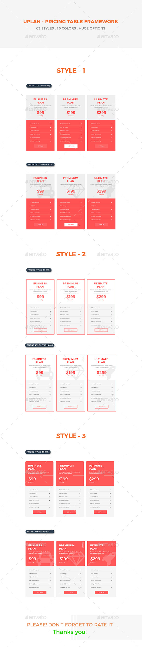 GraphicRiver Uplan A Multipurpose Pricing Tables 20657385