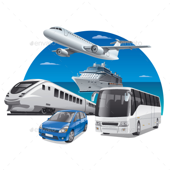 GraphicRiver Transport in Travel 20657594