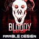 Bloody Night Halloween Flyer