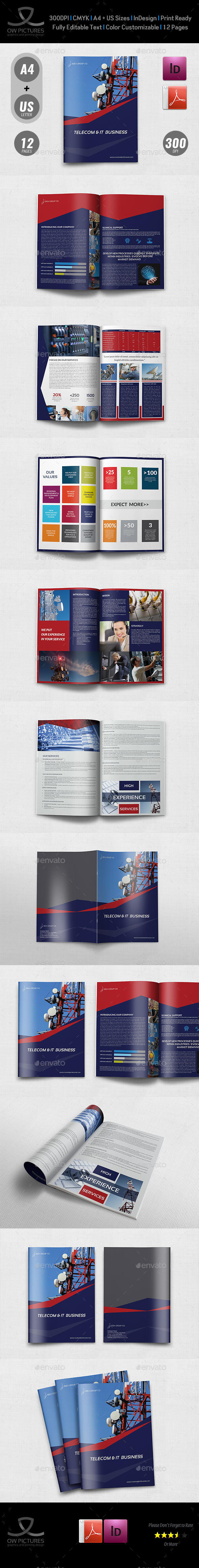 GraphicRiver Telecom Services Brochure Template 12 Pages 20657630