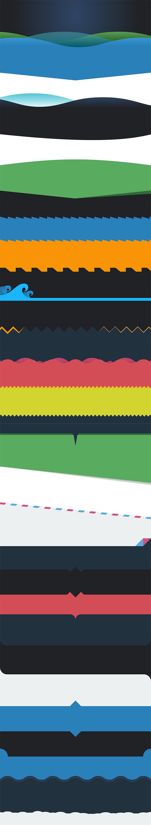 25 Row Separators SVG & CSS3