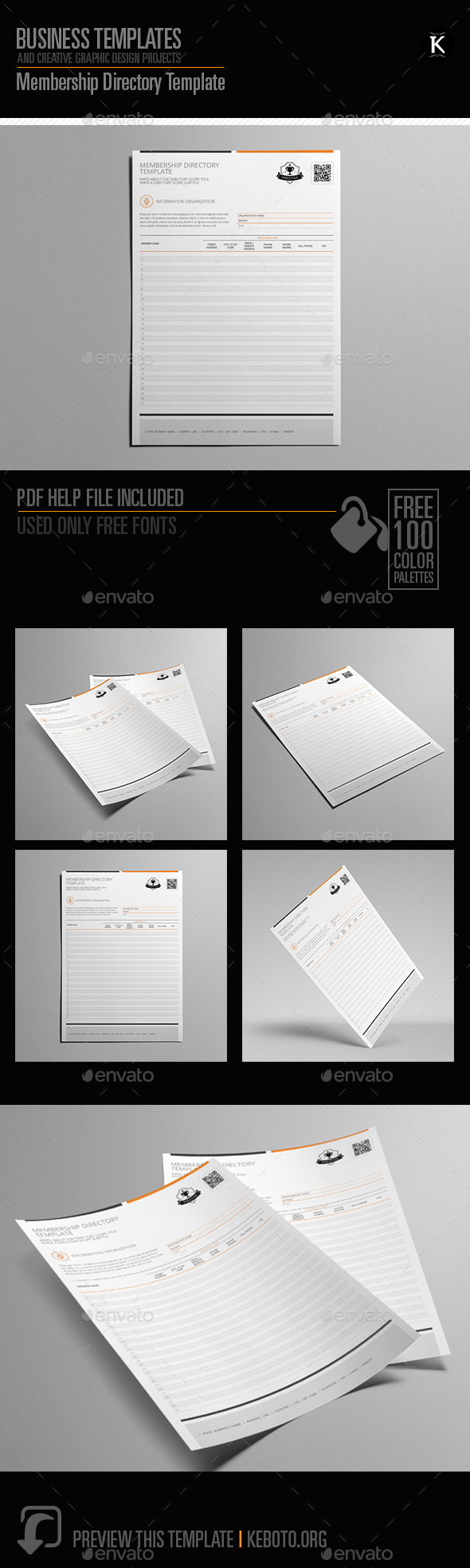 Membership Directory Template - Miscellaneous Print Templates