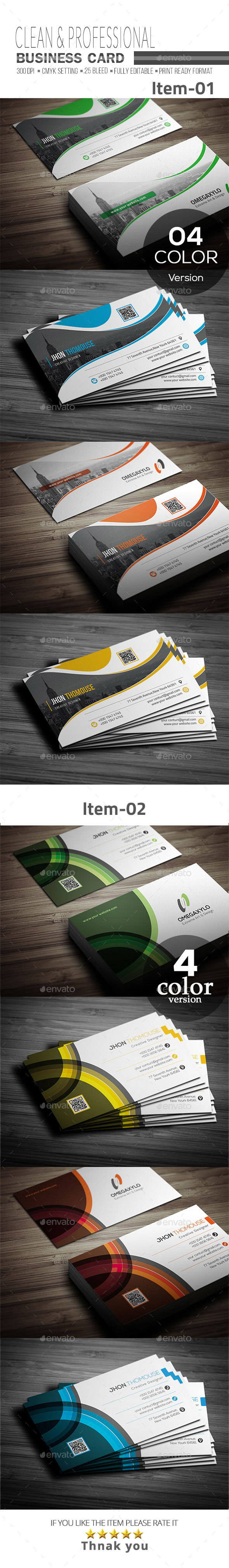 GraphicRiver Business Card Bundle 2 In 1 20657894