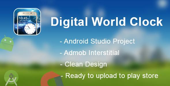 Digital world clock android app + admob - CodeCanyon Item for Sale