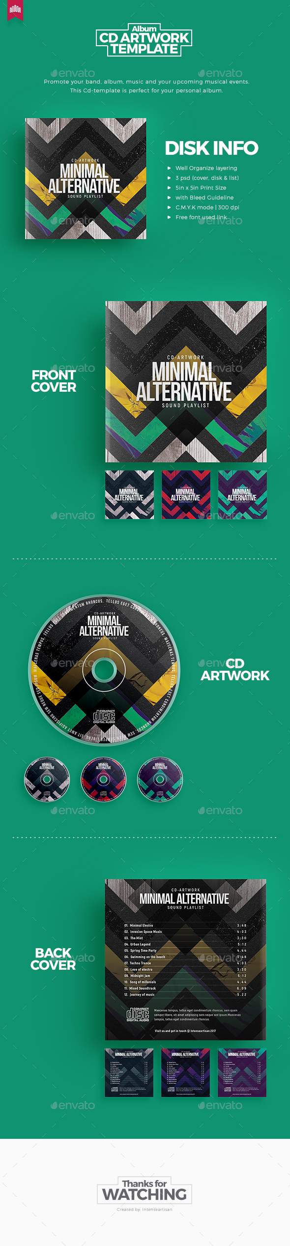 Minimal Alternative - Cd Artwork - CD & DVD Artwork Print Templates