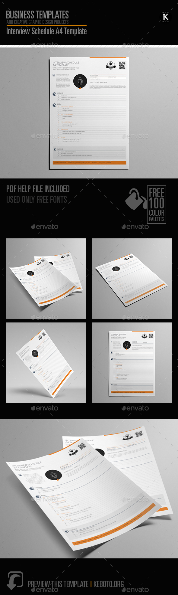 GraphicRiver Interview Schedule A4 Template 20657995